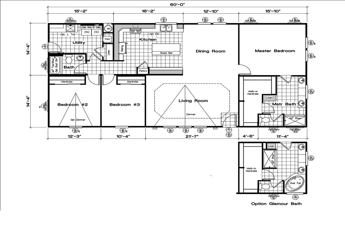 The GLE601S Floor Plan