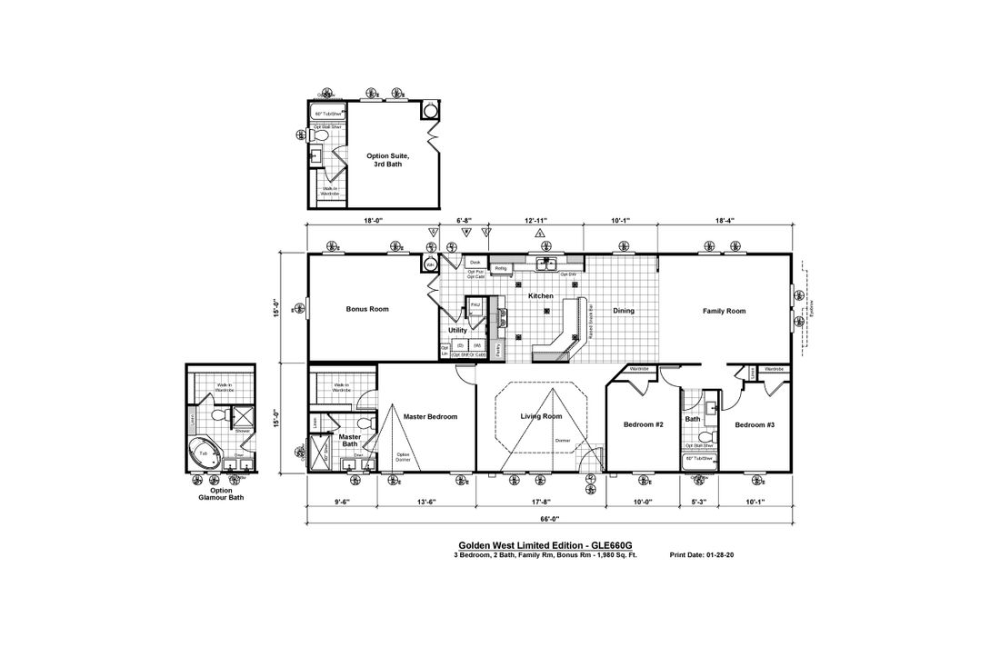 The GLE660G Floor Plan