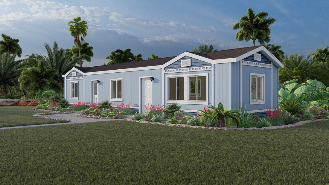 The GP11 1440-2A OJAI Exterior. This Manufactured Mobile Home features 2 bedrooms and 2 baths.