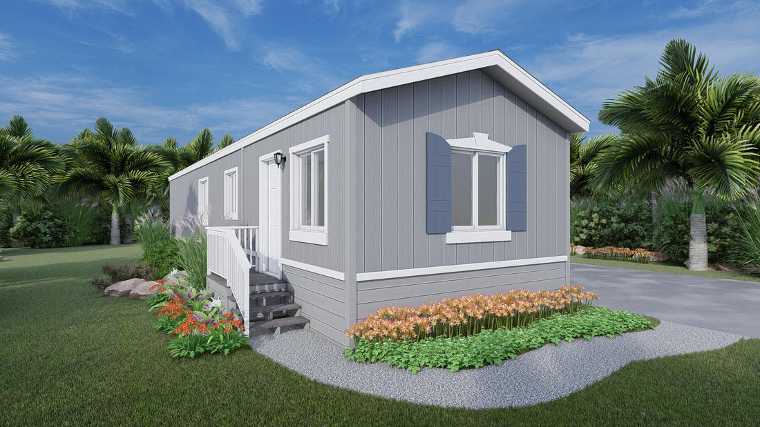 The GPII 1452-2B PALOMAR Exterior. This Manufactured Mobile Home features 2 bedrooms and 1 bath.