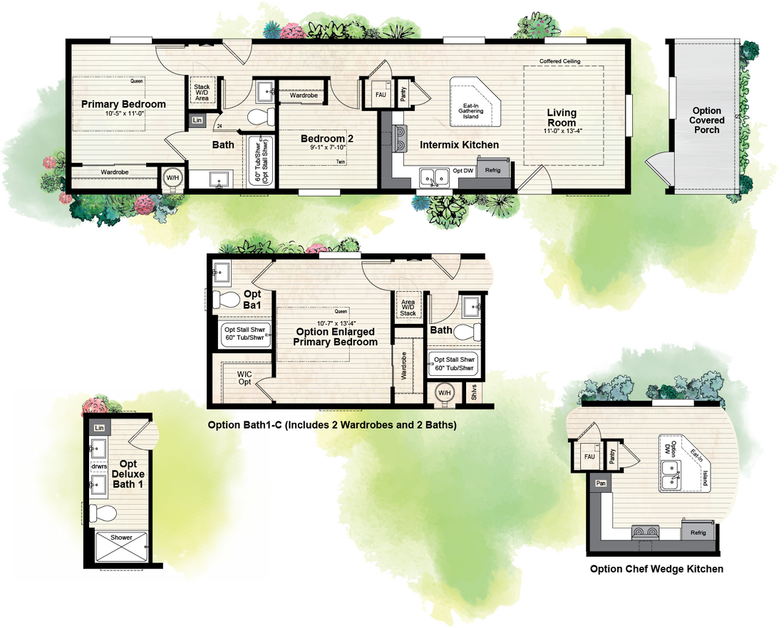 The GPII 1452-2B PALOMAR Floor Plan