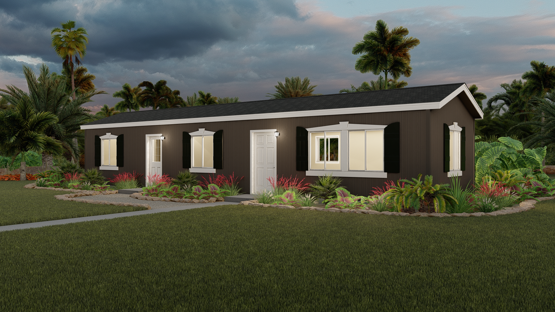 The GPII 1440-1A OTAY Exterior. This Manufactured Mobile Home features 1 bedroom and 1 bath.