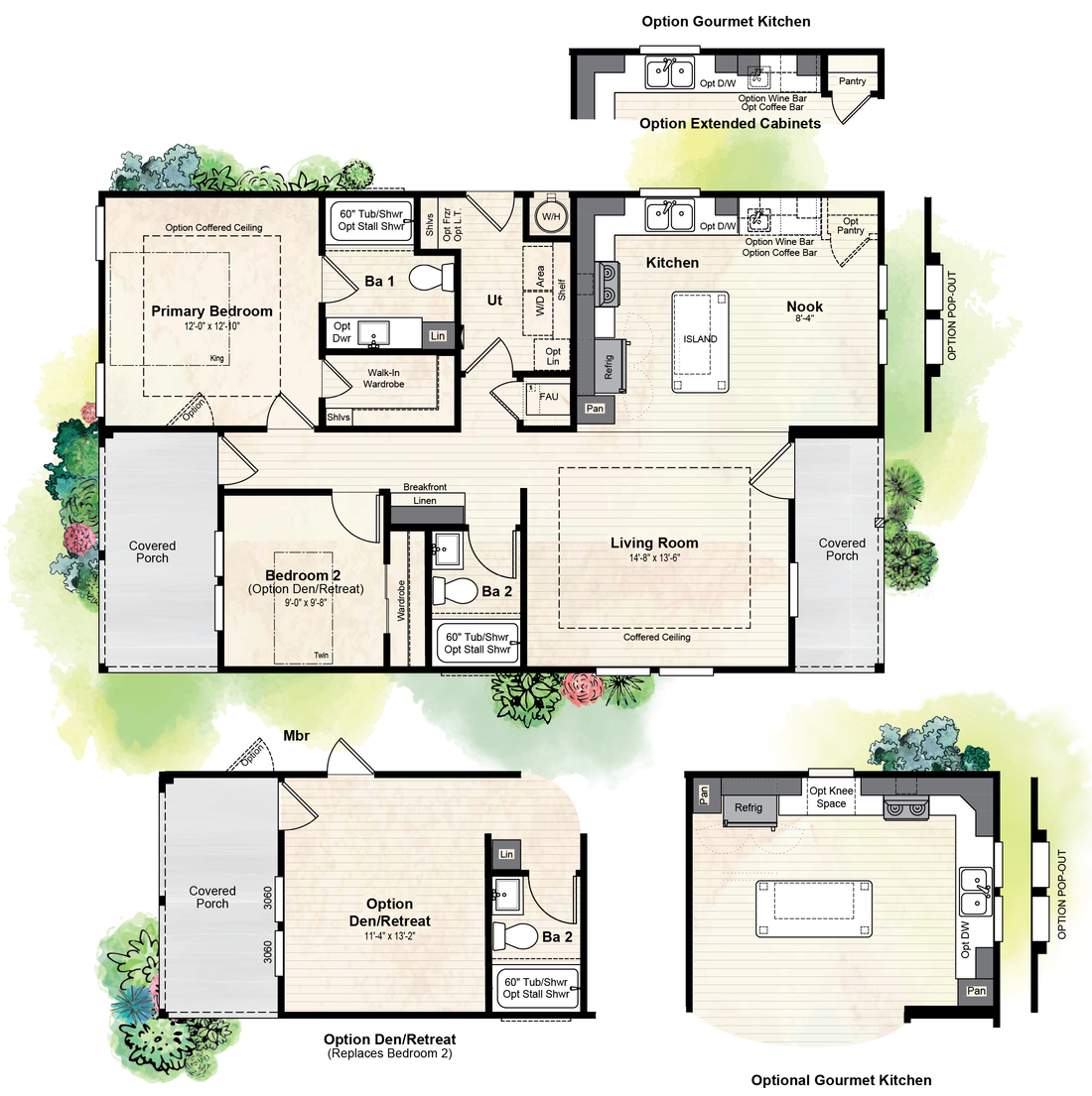 The GPII-2744-2C ORCHARD RANCH Floor Plan