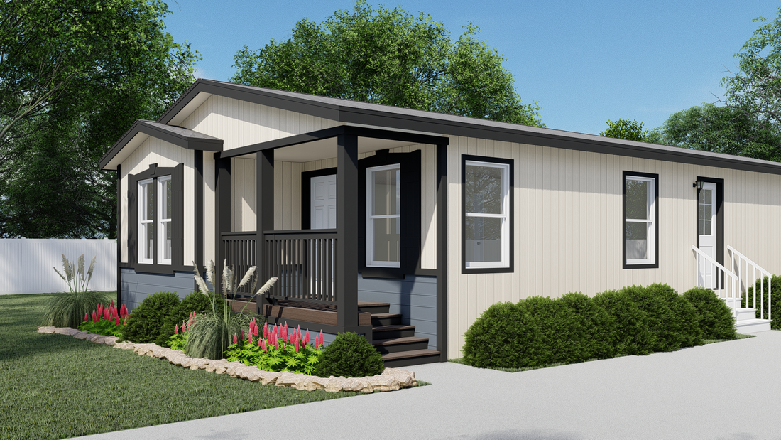 The GPII-2744-2C ORCHARD RANCH Exterior. This Manufactured Mobile Home features 2 bedrooms and 2 baths.