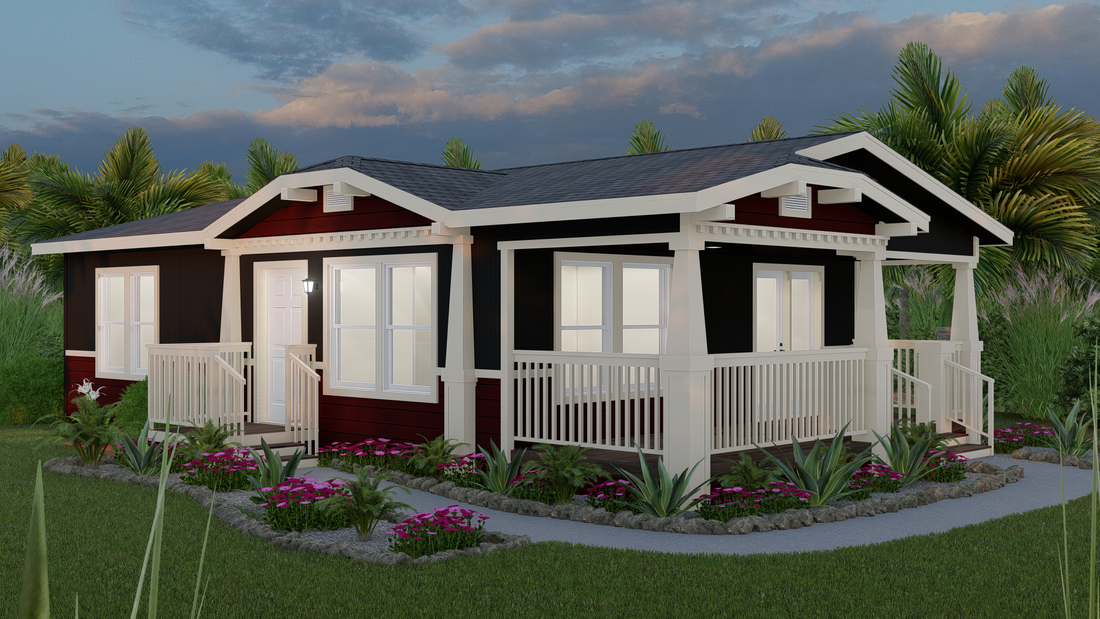 The GPII-2442-2A  CAMARILLO Exterior. This Manufactured Mobile Home features 2 bedrooms and 2 baths.
