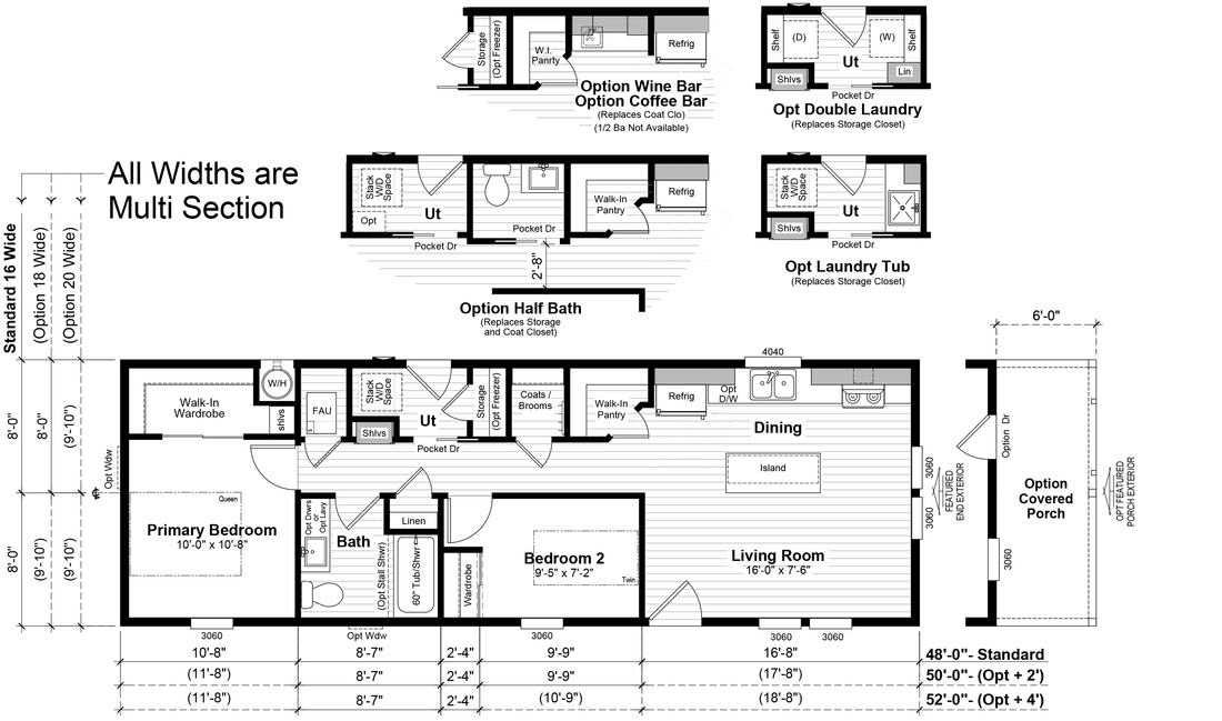 The GPII 1648-2B LA PLAYA Floor Plan
