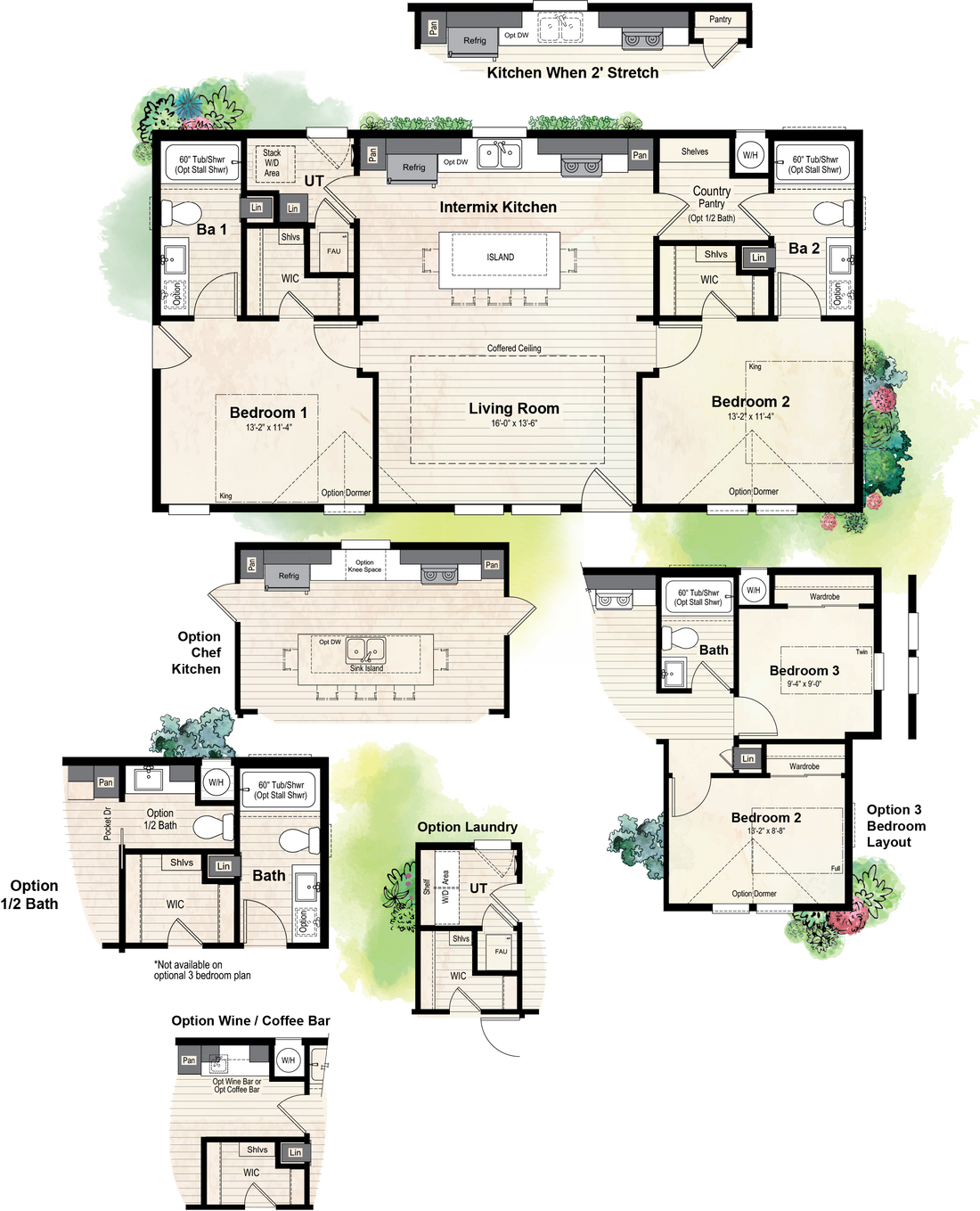 The GPII-2444-2A  FILLMORE Floor Plan