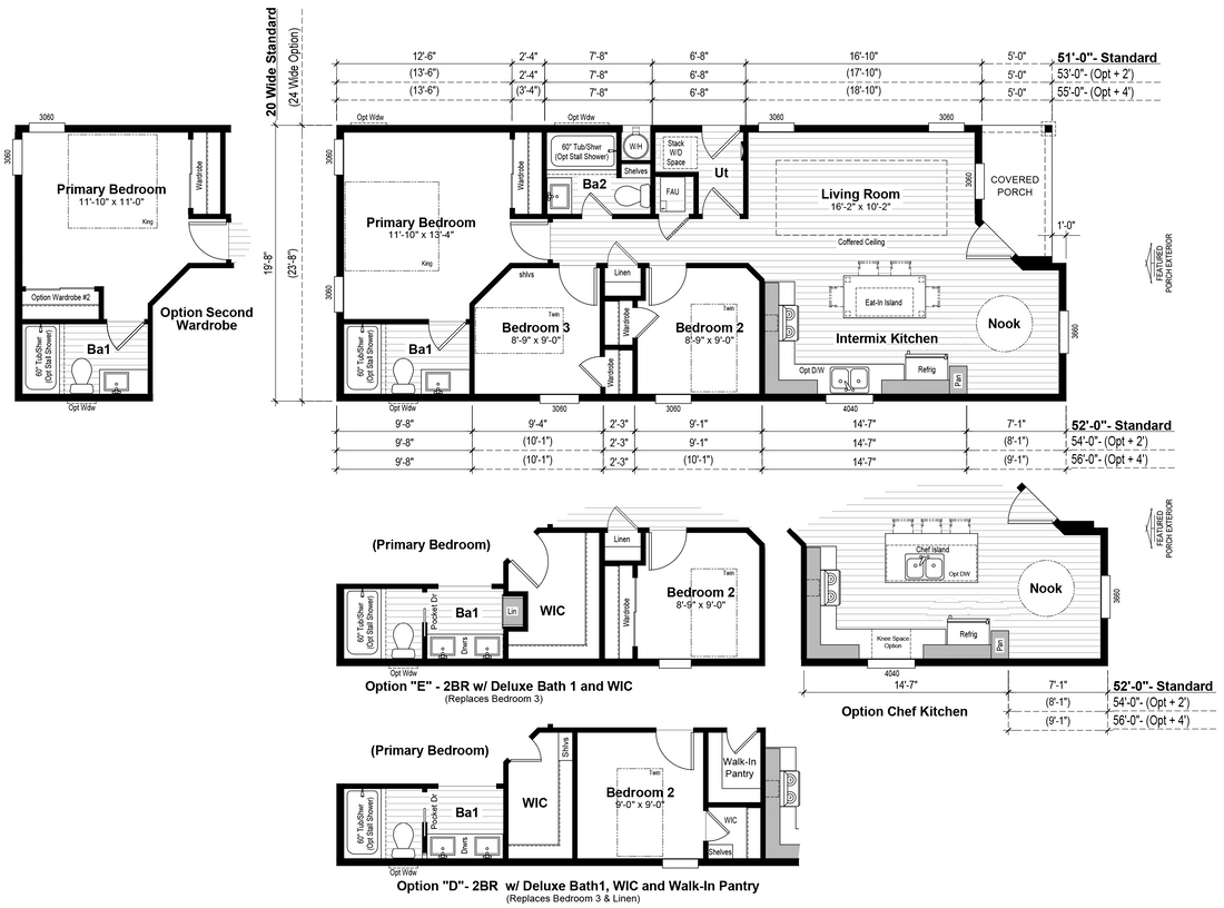 The GPII-2052-3B  PALISADES Floor Plan