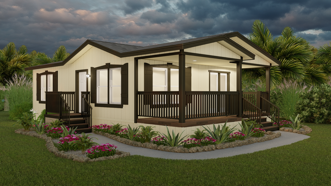 The GPII-2440-1A  ALISO Exterior. This Manufactured Mobile Home features 1 bedroom and 1 bath.