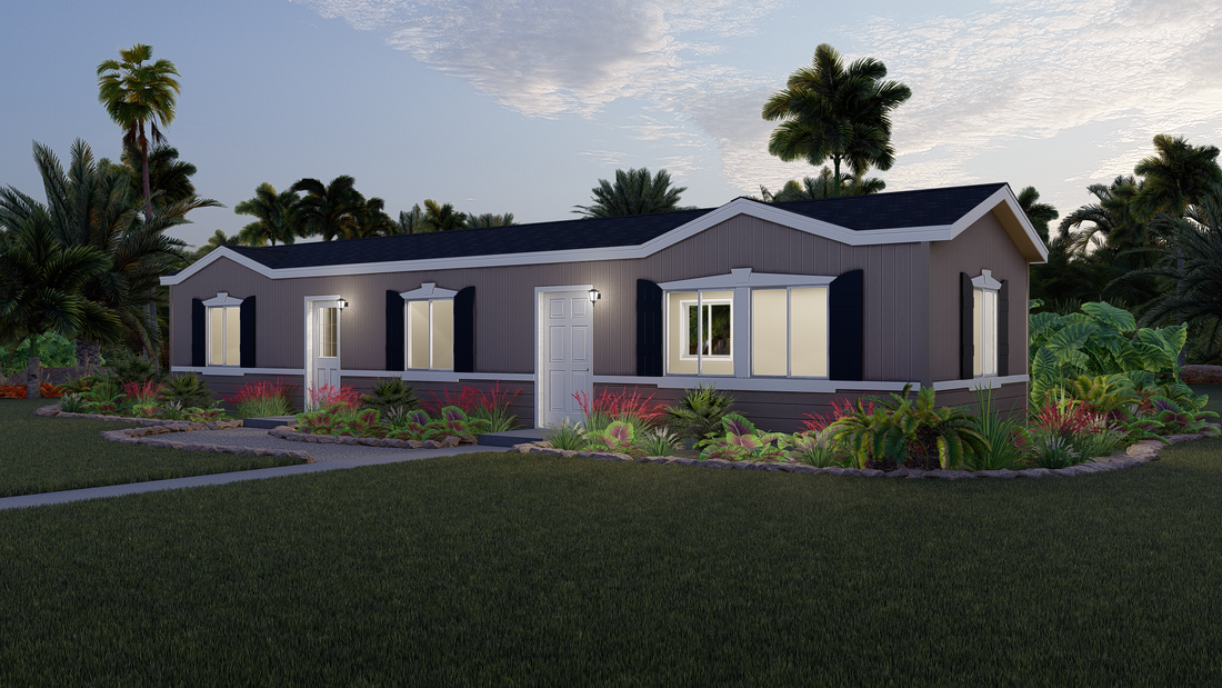 The GPII 1648-2A  LAS CRUCES Exterior. This Manufactured Mobile Home features 2 bedrooms and 1 bath.