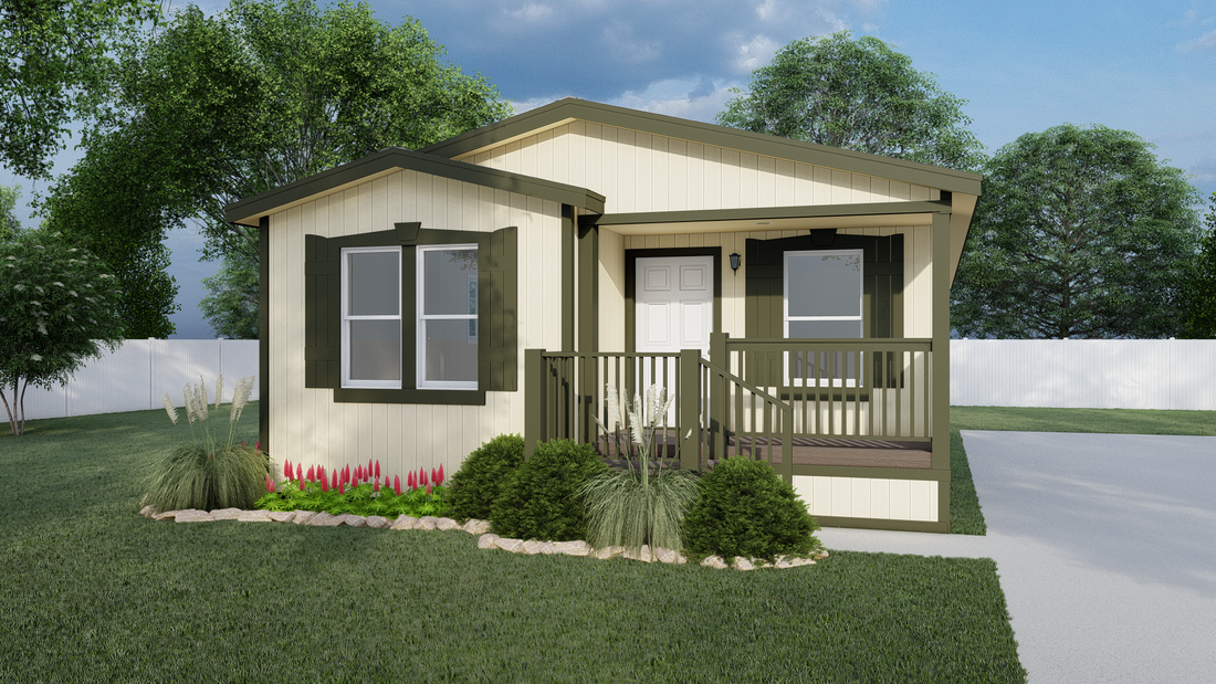 The GPII-2448-3B SAN JUAN Exterior. This Manufactured Mobile Home features 3 bedrooms and 2 baths.