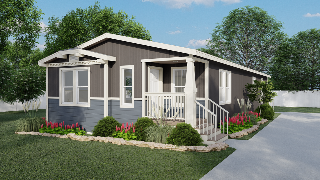 The GPII-2462-3B CENTER PARK Exterior. This Manufactured Mobile Home features 3 bedrooms and 2 baths.