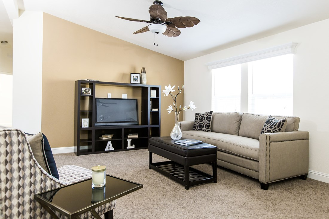 The CK501A Living Room. This Manufactured Mobile Home features 3 bedrooms and 2 baths.