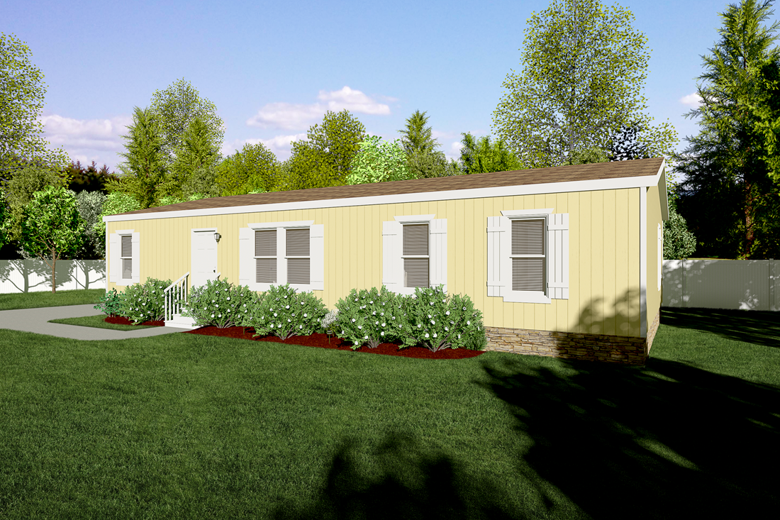 The CK522F Exterior. This Manufactured Mobile Home features 4 bedrooms and 2 baths.