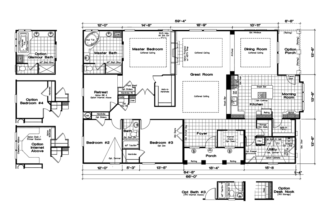 The GLE661K Floor Plan
