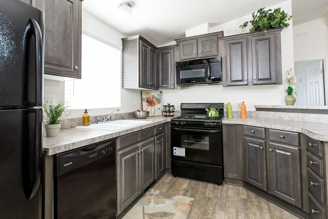 The GE441A Kitchen. This Manufactured Mobile Home features 3 bedrooms and 2 baths.